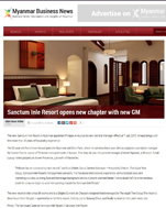 Sanctum Inle Resort General Manager on Myanmar Business News