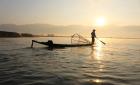 Inle Lake in sunrise