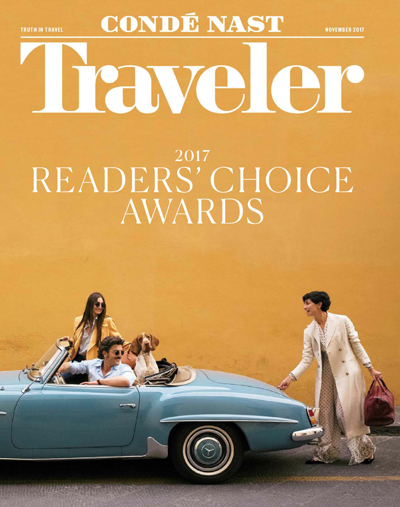 The full award list of Condé Nast Traveler
