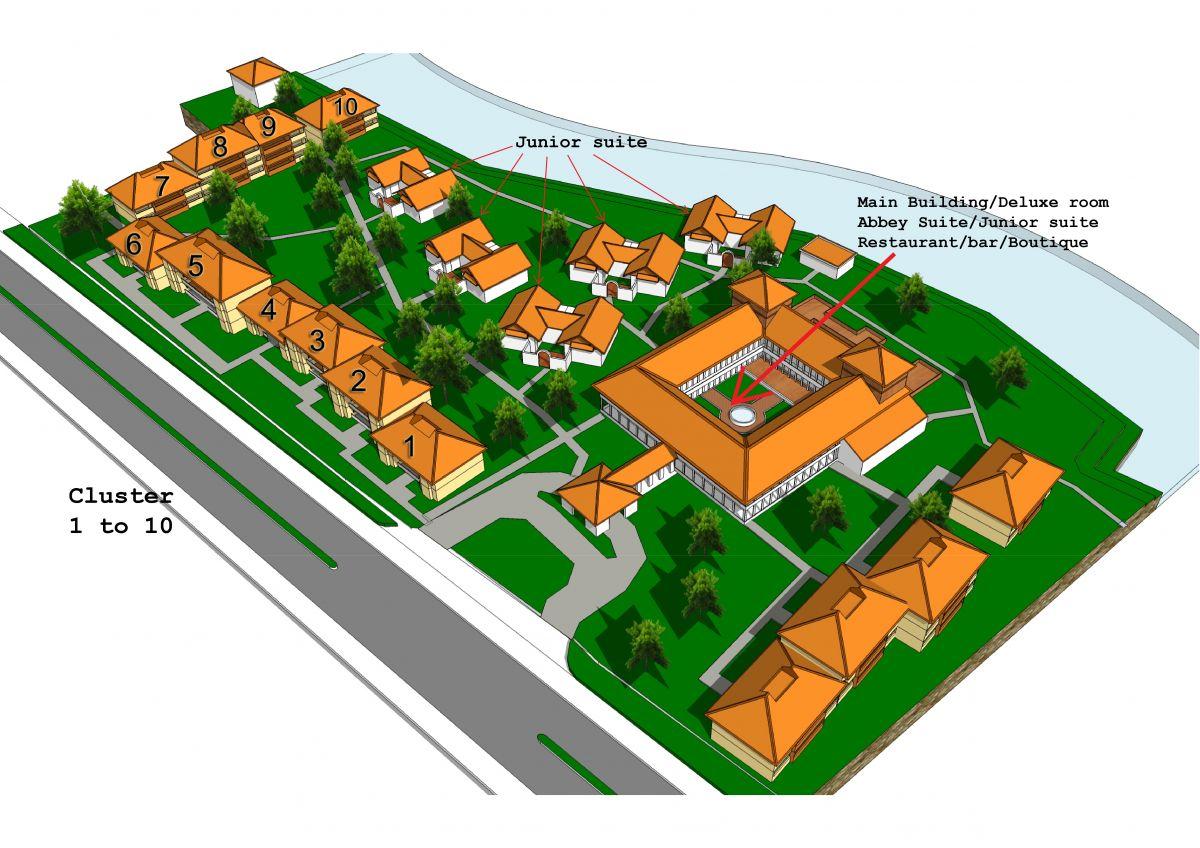 Cluster House Floor Plan Resort Layout Sanctum Inle Resort
